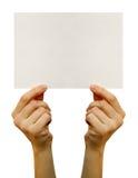 Spazio in bianco della scheda Immagini Stock Libere da Diritti