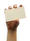 Spazio in bianco della scheda Fotografie Stock