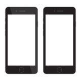 Spazio in bianco dello Smart Phone Smartphone con esposizione in bianco Immagini Stock Libere da Diritti