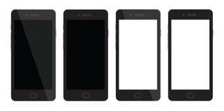 Spazio in bianco dello Smart Phone Smartphone con esposizione in bianco Fotografie Stock Libere da Diritti