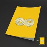 Spazio in bianco di affari A4 Simbolo di infinito Immagini Stock
