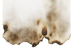 Spazio in bianco di carta bruciato Immagini Stock