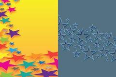 Spazio in bianco di effetto della pagina della stella Fotografia Stock