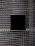 Spazio in bianco di piastra metallica sulla barriera di sicurezza Immagini Stock