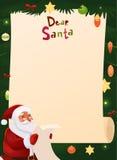 Spazio in bianco di progettazione della lista di obiettivi di Natale Fotografie Stock