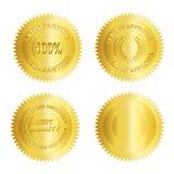 Spazio in bianco di /Stamp /Medal della guarnizione dell'oro Fotografie Stock Libere da Diritti