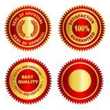 Spazio in bianco di /Stamp /Medal della guarnizione dell'oro Immagini Stock