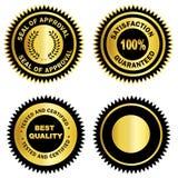 Spazio in bianco di /Stamp /Medal della guarnizione dell'oro Fotografia Stock Libera da Diritti