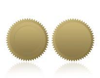 Spazio in bianco di /Stamp /Medal della guarnizione dell'oro Fotografie Stock