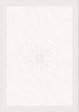 Spazio in bianco di stile della rabescatura per il certificato Immagini Stock