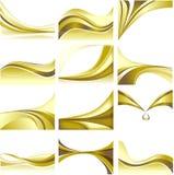 Spazio in bianco dorato stabilito B bianca di tema della priorità bassa astratta Fotografia Stock Libera da Diritti