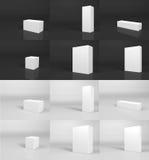Spazio in bianco impaccante fotografie stock