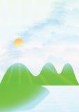 Spazio in bianco pieno di sole di Veiw illustrazione di stock