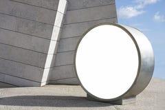 Spazio in bianco rotondo del tabellone per le affissioni immagine stock