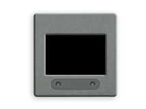 Spazio in bianco una trasparenza da 35 millimetri con il blocco per grafici su lightbox. Immagini Stock