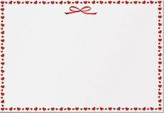 Spazio in bianco vuoto con i cuori Carta festiva Giorno del `s del biglietto di S Vettore Fotografie Stock Libere da Diritti