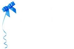 Spazio in bianco vuoto con il nastro blu e posto per testo. Fotografia Stock Libera da Diritti