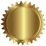 Spazio in bianco vuoto dell'etichetta del distintivo del marchio dell'oro Fotografia Stock