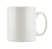 Spazio in bianco vuoto della tazza bianca fotografia stock libera da diritti