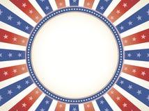 Spazio blu bianco rosso della copia di colore di Vinage illustrazione di stock