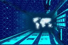 Spazio blu scuro con proiezione Immagine Stock