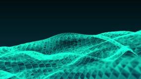 Spazio con le particelle d'ardore sottragga la priorità bassa Video del ciclo seamless Bello fondo con le particelle Sfera isolat illustrazione vettoriale