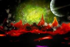 Spazio cosmico illustrazione vettoriale