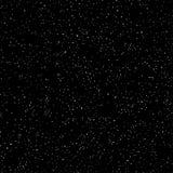 Spazio cosmico, cielo scuro stellato, modello senza cuciture, struttura in bianco e nero Spruzzatura caotica del punto Vettore illustrazione vettoriale