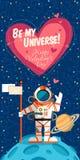 Spazio cosmico del illustrationabout di vettore per il giorno di biglietti di S. Valentino illustrazione di stock