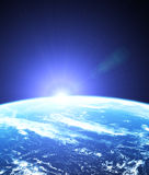Spazio cosmico di alba Fotografia Stock