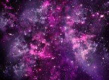 Spazio cosmico profondo del cielo notturno stellato Fotografia Stock Libera da Diritti