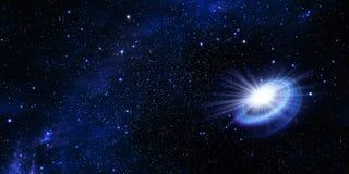 Spazio cosmico profondo del cielo notturno stellato illustrazione di stock