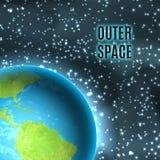 Spazio cosmico Terra royalty illustrazione gratis