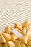 Spazio dei biscotti di fortuna per testo Fotografia Stock