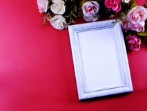 spazio del telaio della foto con la decorazione domestica immagini stock