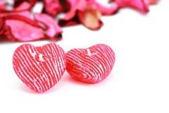 Spazio del testo di figura del cuore Fotografia Stock