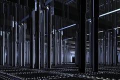 spazio dell'azzurro 3D Fotografie Stock Libere da Diritti