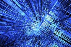 spazio dell'azzurro 3D Fotografia Stock