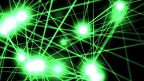 spazio dell'energia del laser della stella di lustro 4k, particella leggera del raggio, fase del night-club del punto del punto illustrazione vettoriale