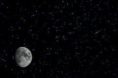 Spazio della cometa della luna delle stelle Immagini Stock Libere da Diritti