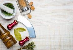 Spazio della copia degli utensili da cucina Immagine Stock