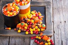 Spazio della copia della caramella di Halloween Fotografie Stock