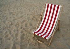 Spazio della copia della presidenza di spiaggia immagini stock