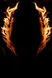 Spazio della copia incorniciato fiamma Fotografia Stock