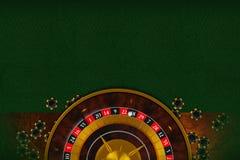 Spazio della copia della Tabella delle roulette Immagini Stock Libere da Diritti
