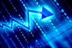 Spazio di dati blu illustrazione vettoriale
