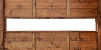 Spazio di legno panoramico della copia della finestra Immagine Stock