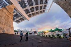 Spazio di Parc del Forum, dove il festival 2013 del suono di Heineken Primavera ha luogo Fotografia Stock