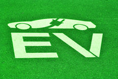 Spazio di parcheggio del veicolo elettrico Immagini Stock