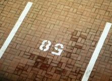 Spazio di parcheggio veduto da sopra Fotografia Stock Libera da Diritti